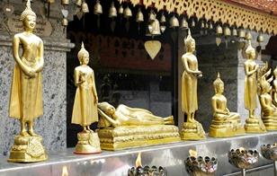 Temple Wat Phra That Doi Suthep Chiang Mai Thailand Siam, Asia
